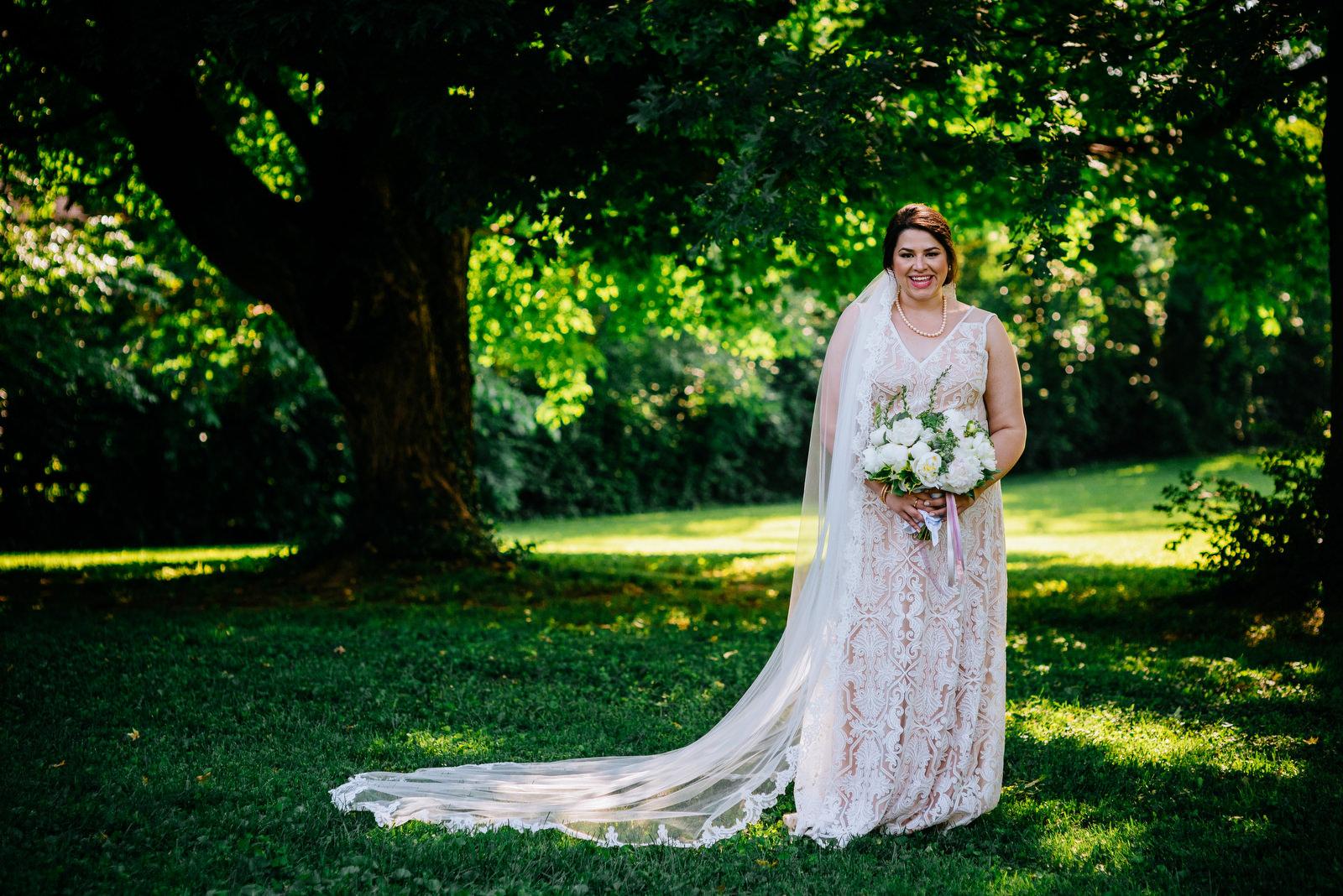 bridal portrait lexington kentucky wedding