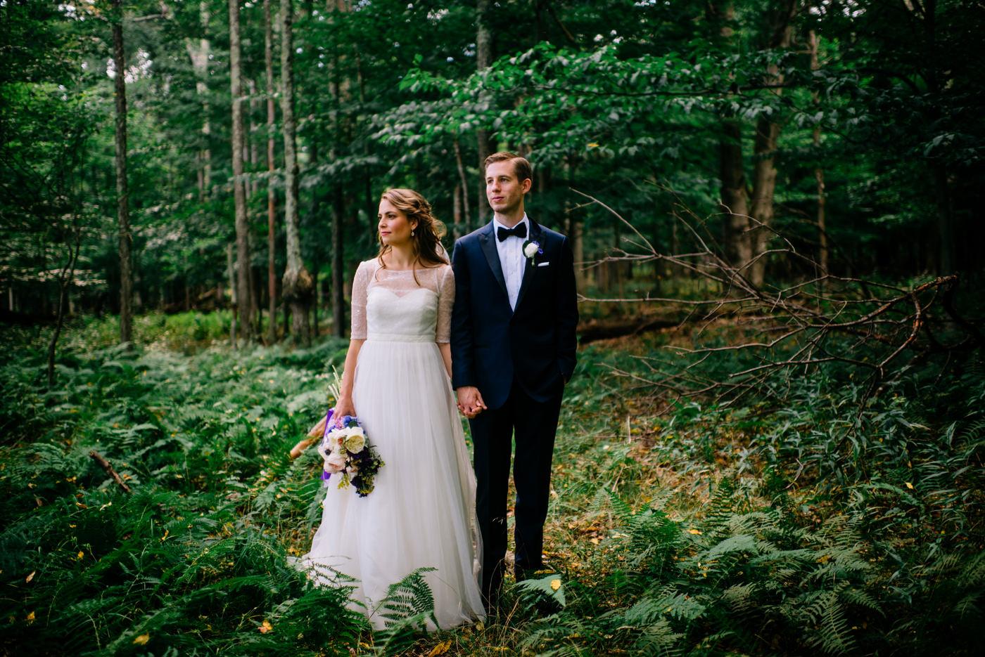 west virginia wv bride and groom in the woods