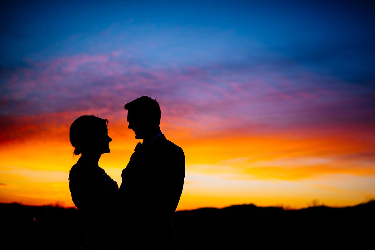 wv winter wedding beautiful sunset huntington west virginia