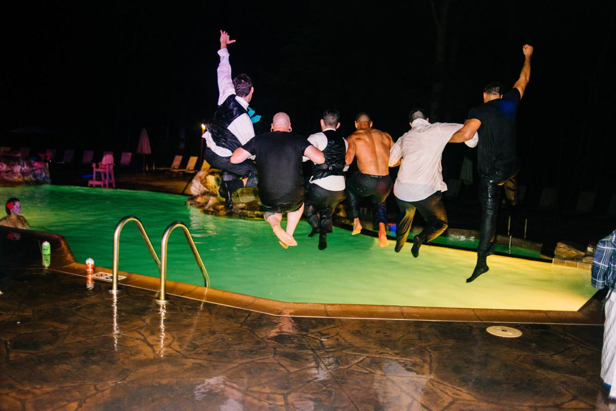 pool party wedding reception