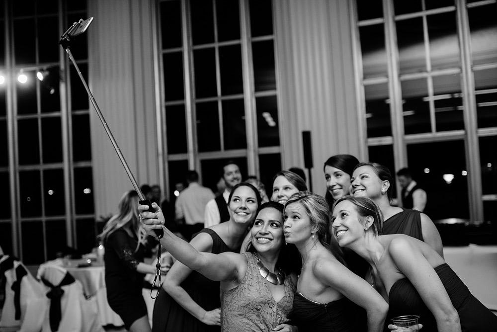 selfie stick at weddings
