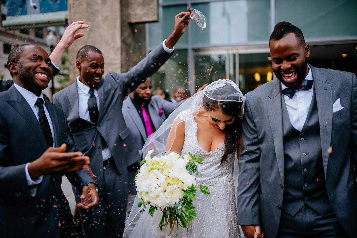 toss flowers during recessional