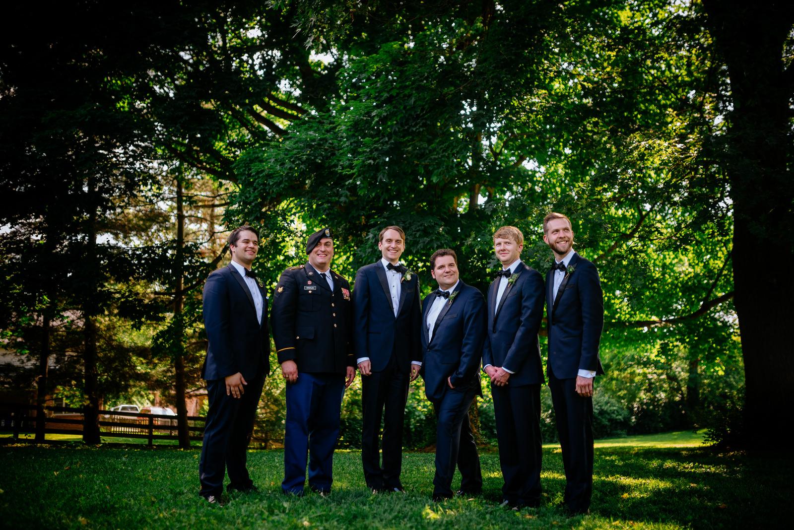 groomsmen holly hill inn wedding lexington ky