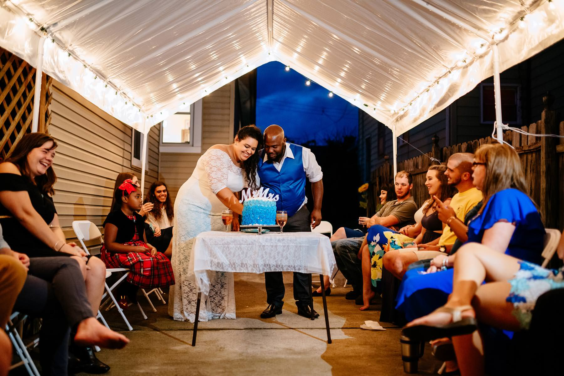 charleston wv backyard wedding reception