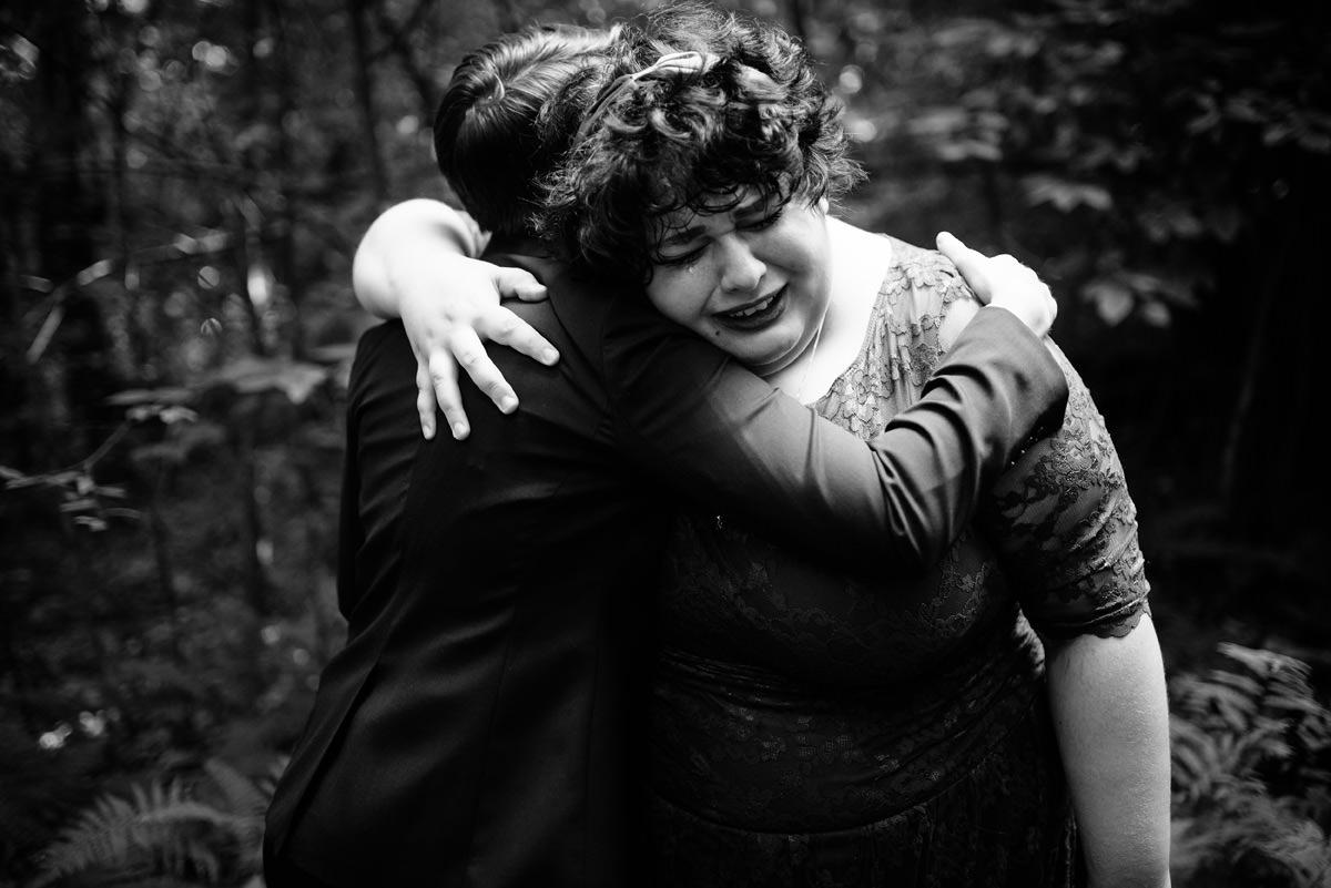 wedding ceremony emotional moment