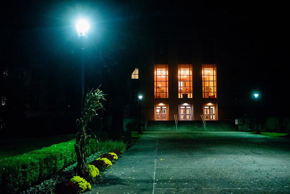university of charleston at night wv