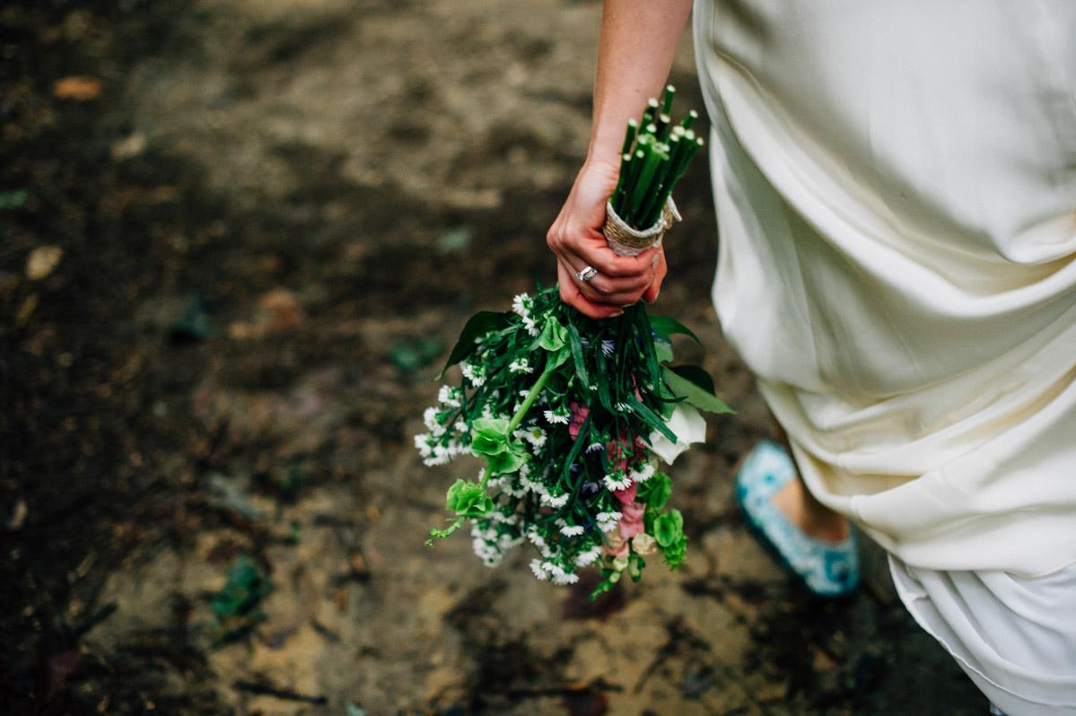 bride bouquet nature elopement fayetteville wv