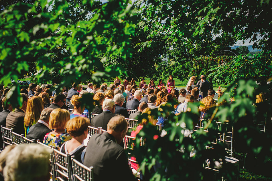 sunny summer farm wedding ceremony