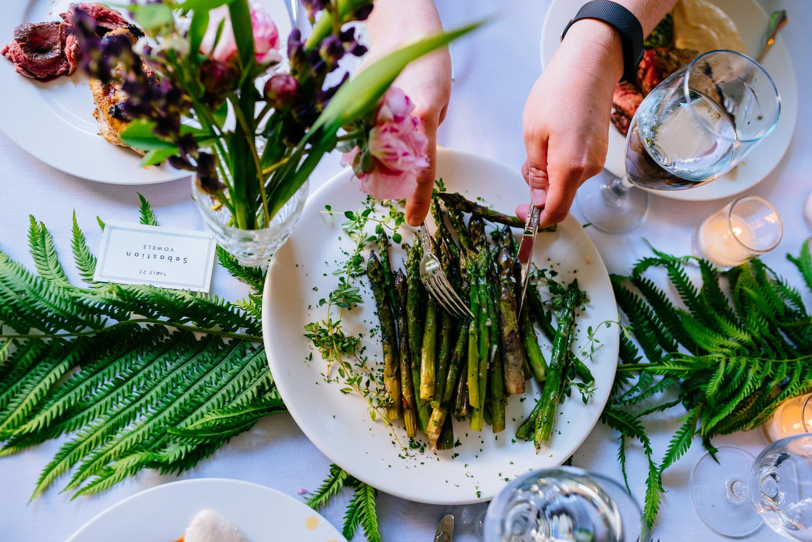 family style wedding dinner