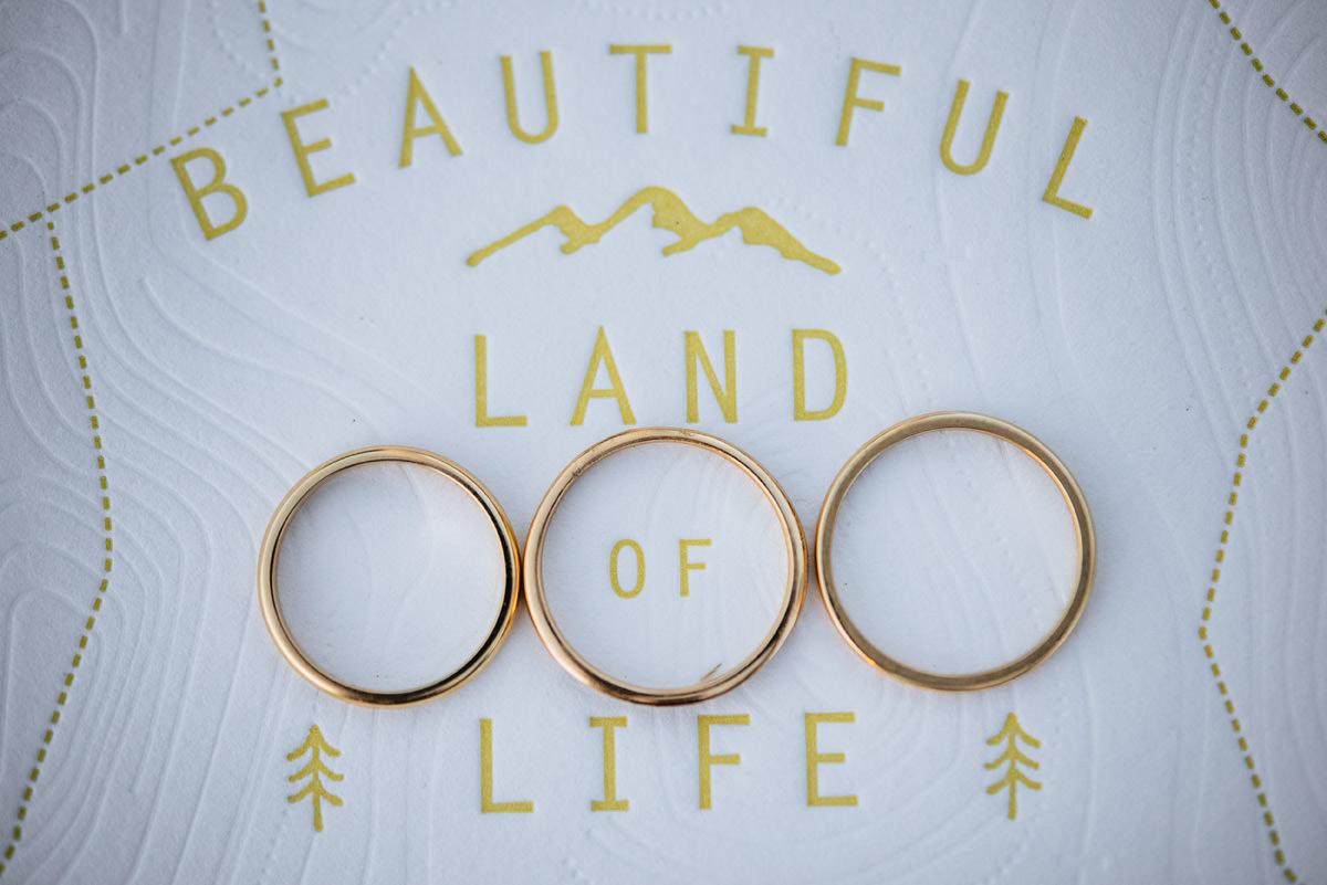 kelby designs wedding ring set basecamp printing letterpress wedding stationery