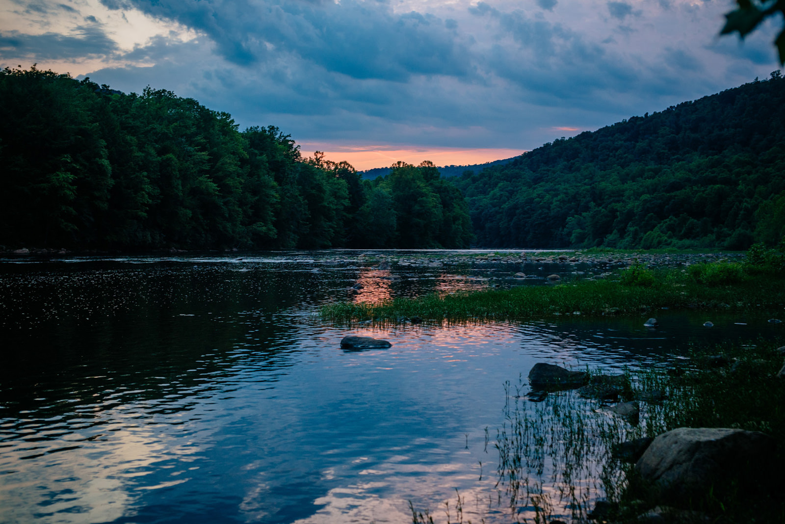 sunset cheat river west virginia