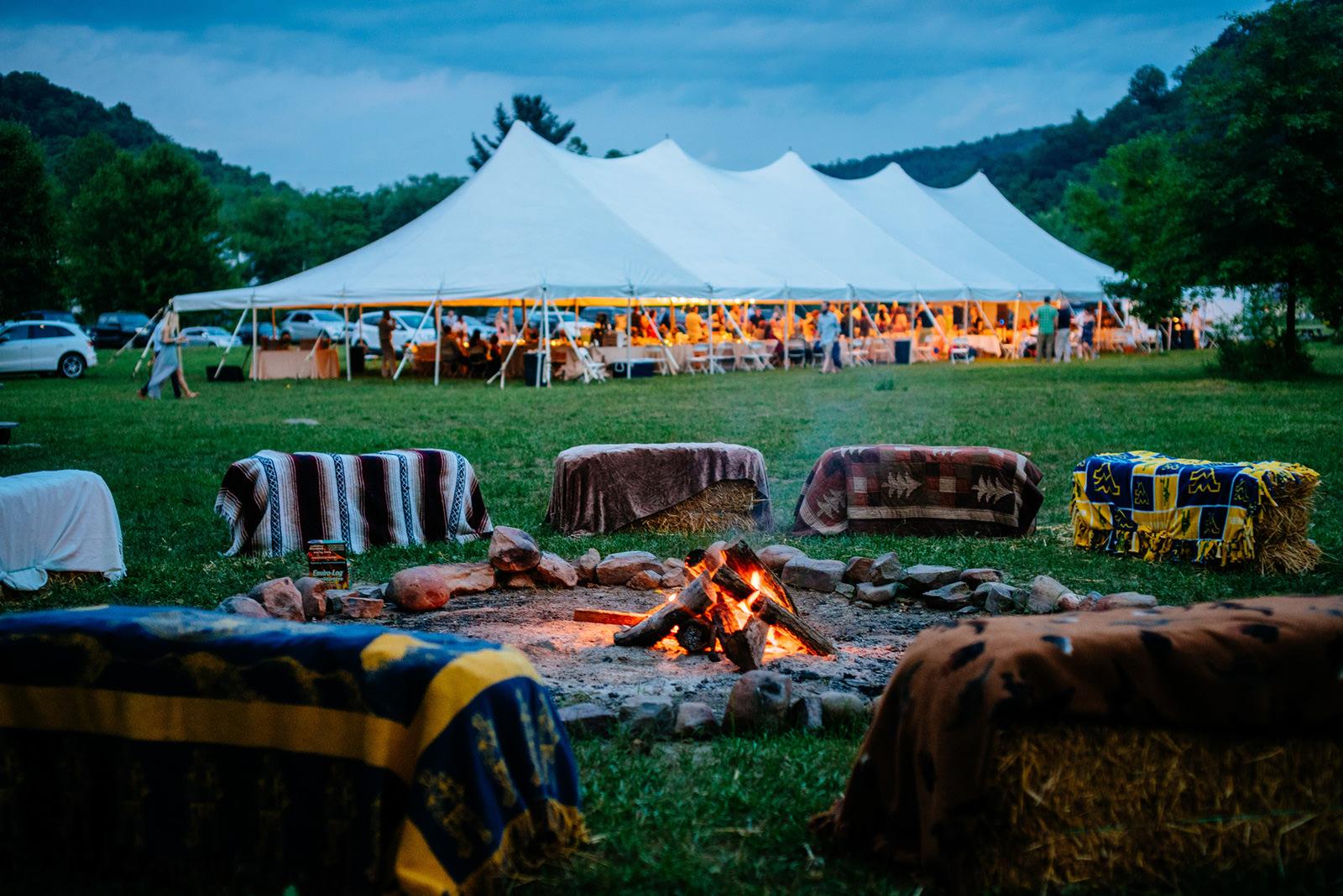 campfire cheat river wedding wv