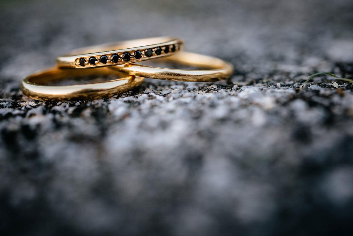 kelby designs wedding rings yellow gold same sex gay wedding