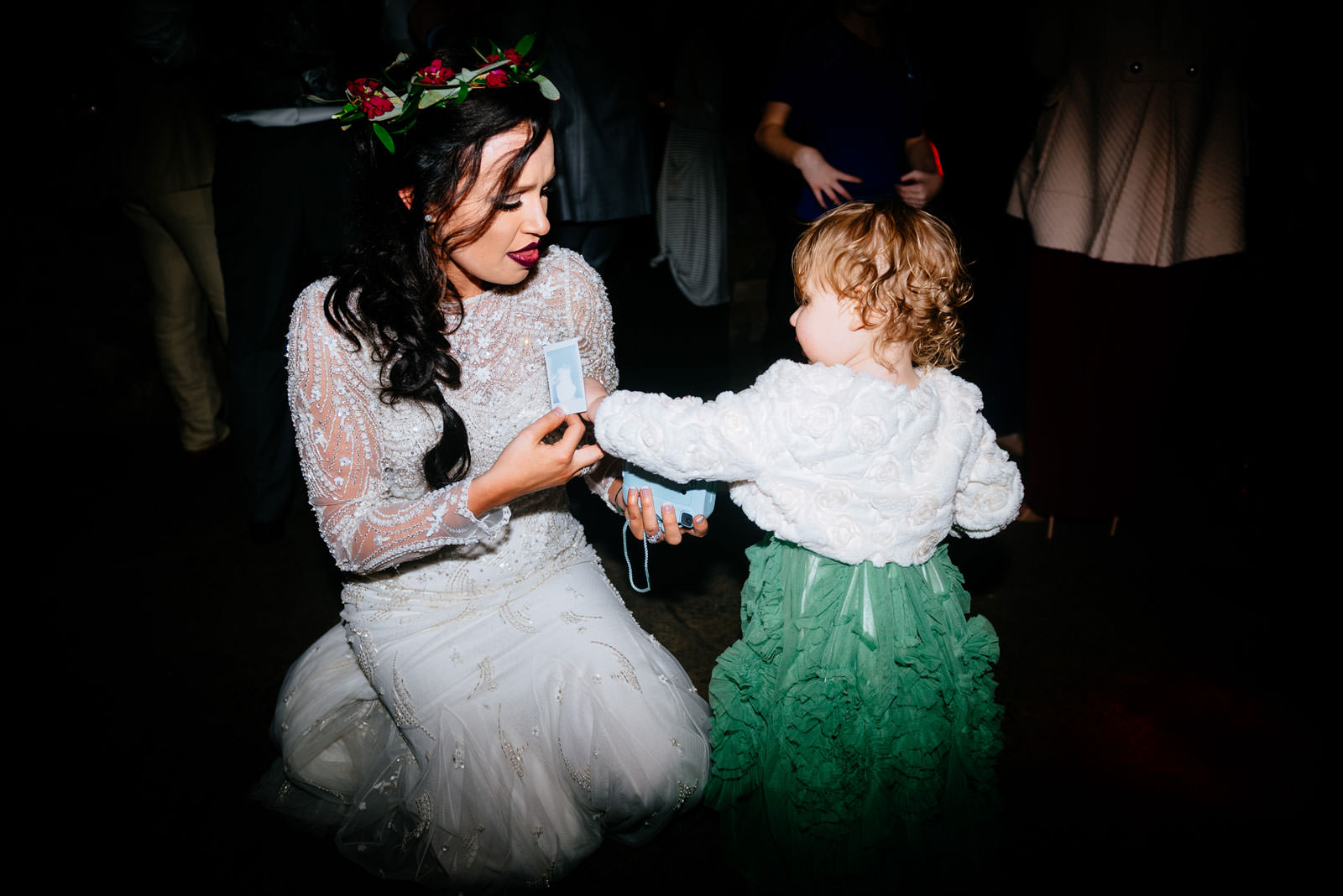 bride dancing with daughter morgantown wv wedding
