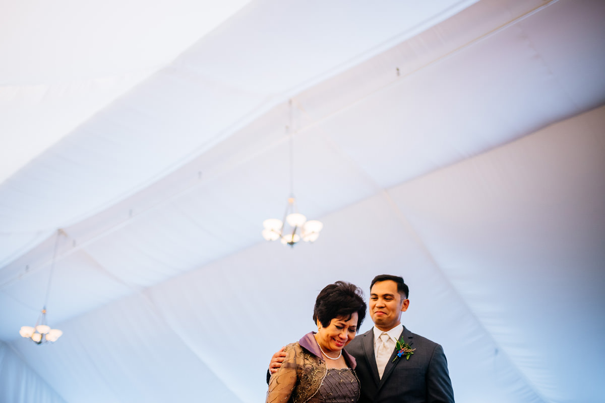 mother son dance at marriott pavilion wedding reception wv