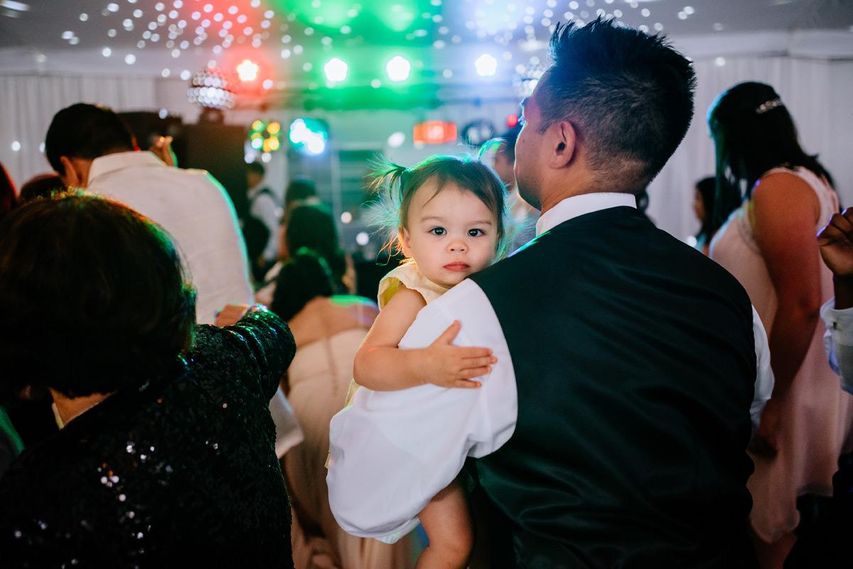 happy wedding guests at marriott pavillion charleston wv