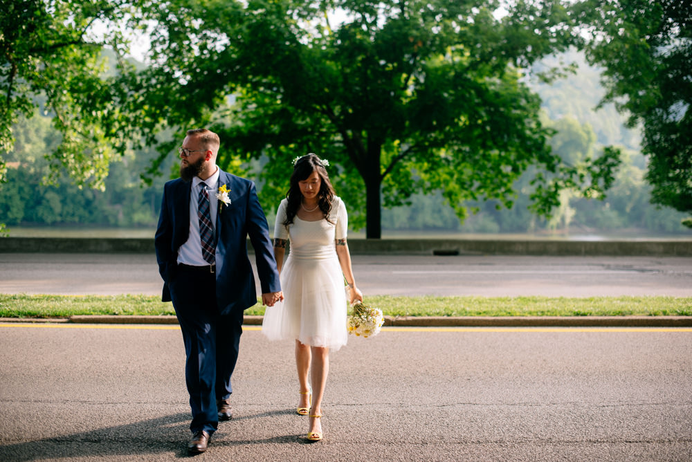kanawha boulevard charleston wv bride and groom portraits