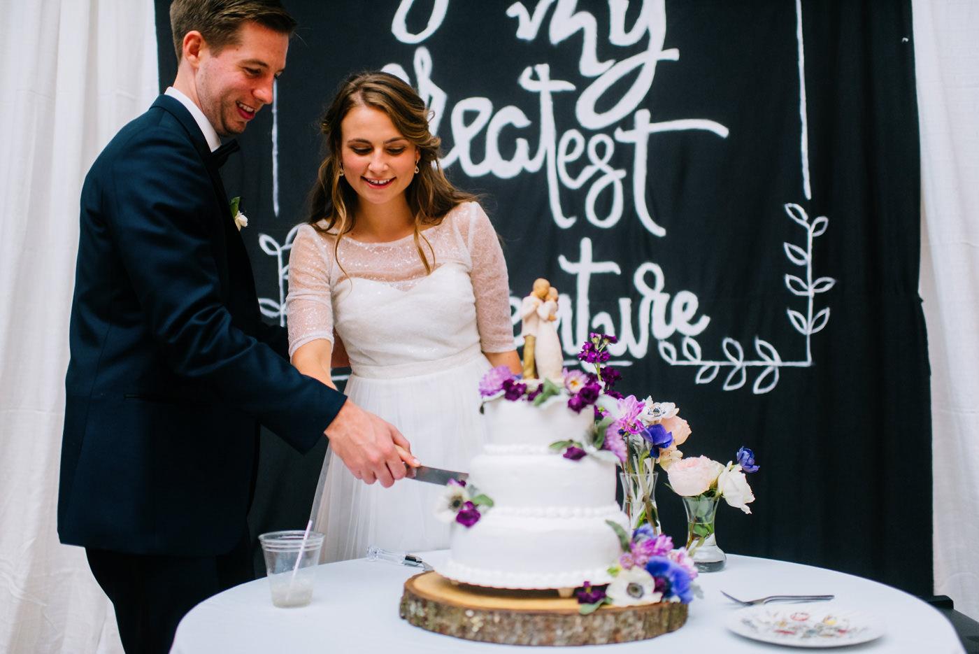 canaan valley wedding cake cutting
