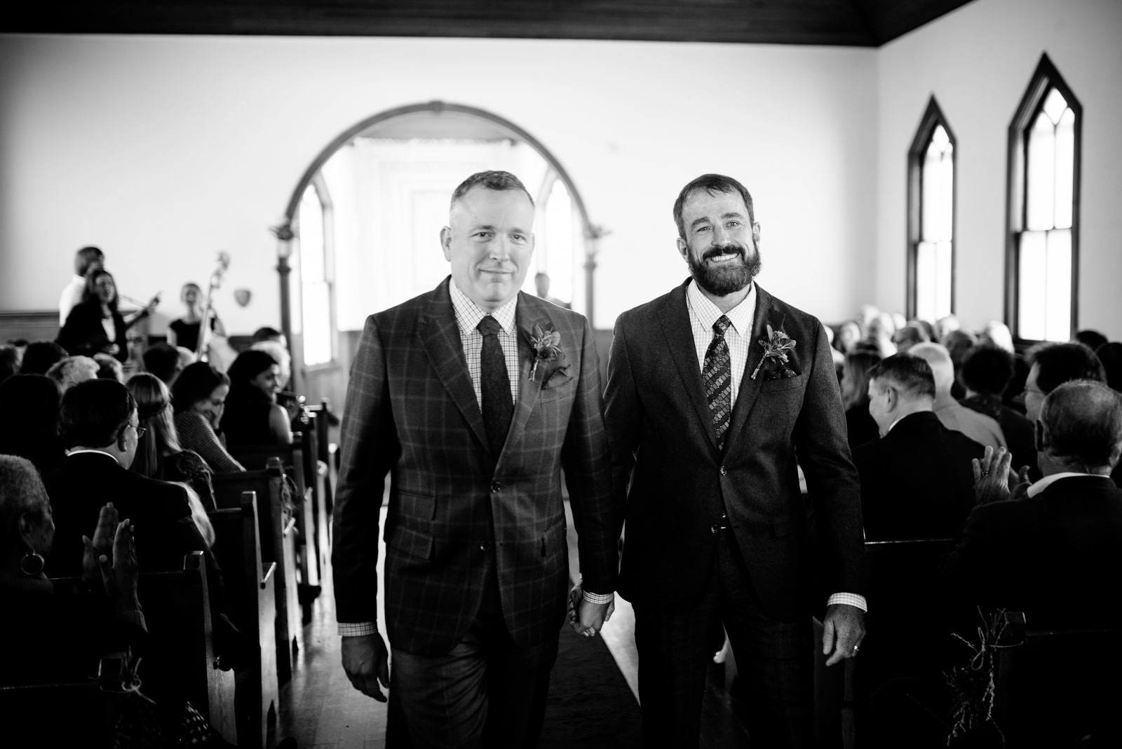 just married ceremony gay wv farm wedding