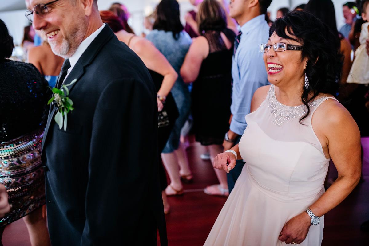 happy wedding guests at marriott pavilion charleston wv