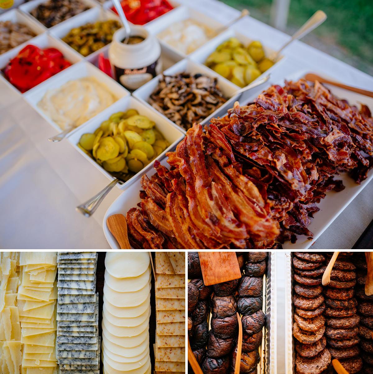 wedding reception burger bar by fish hawk acres