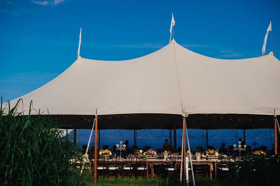 outdoor appalachian farm wedding tent