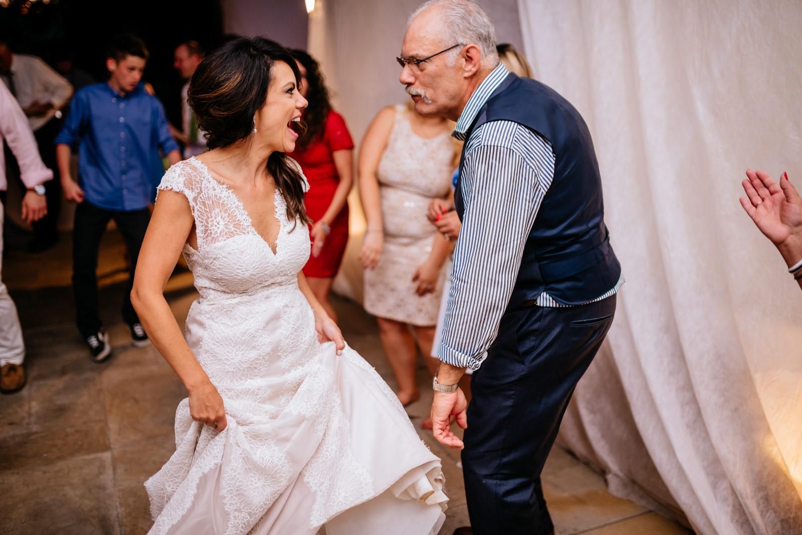 bride dancing with dad wedding reception moment