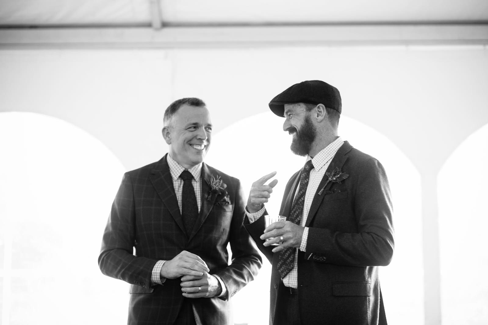 happy grooms