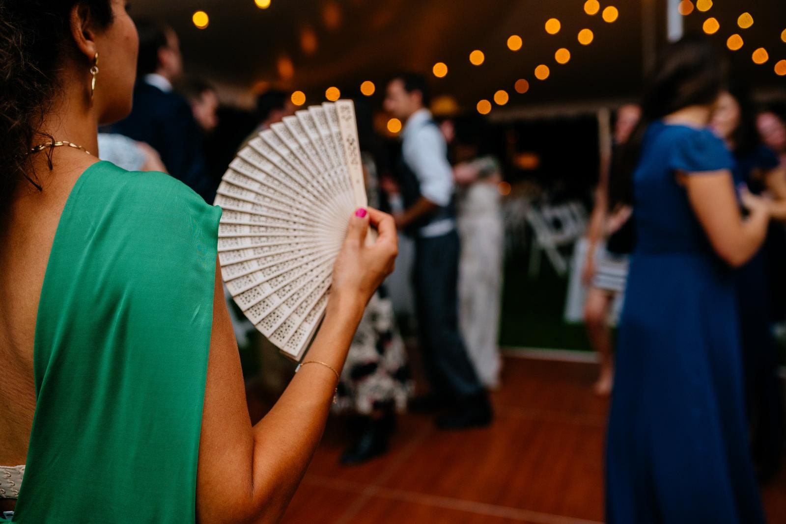 reception guest hand fan