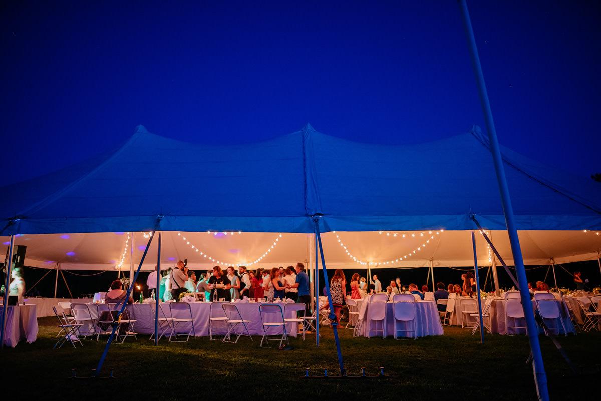 confluence resort wedding reception tent