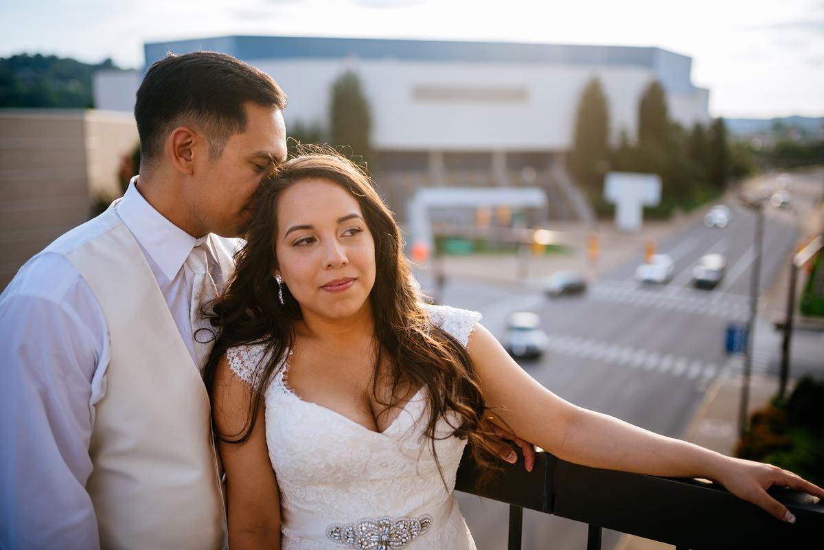 bride and groom reception portrait