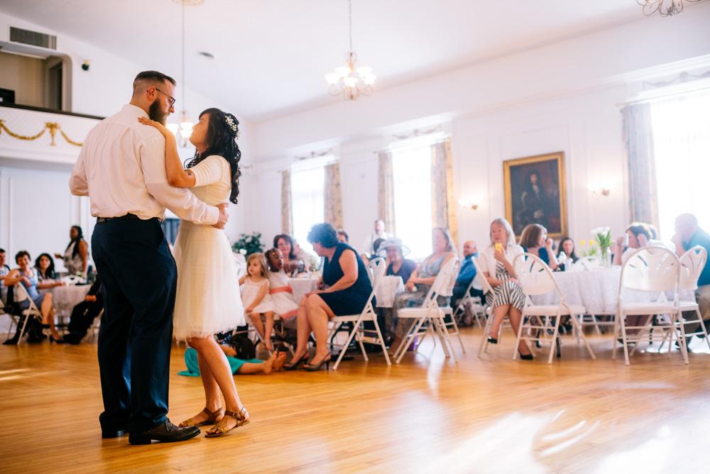 charleston wv womans club wedding reception first dance