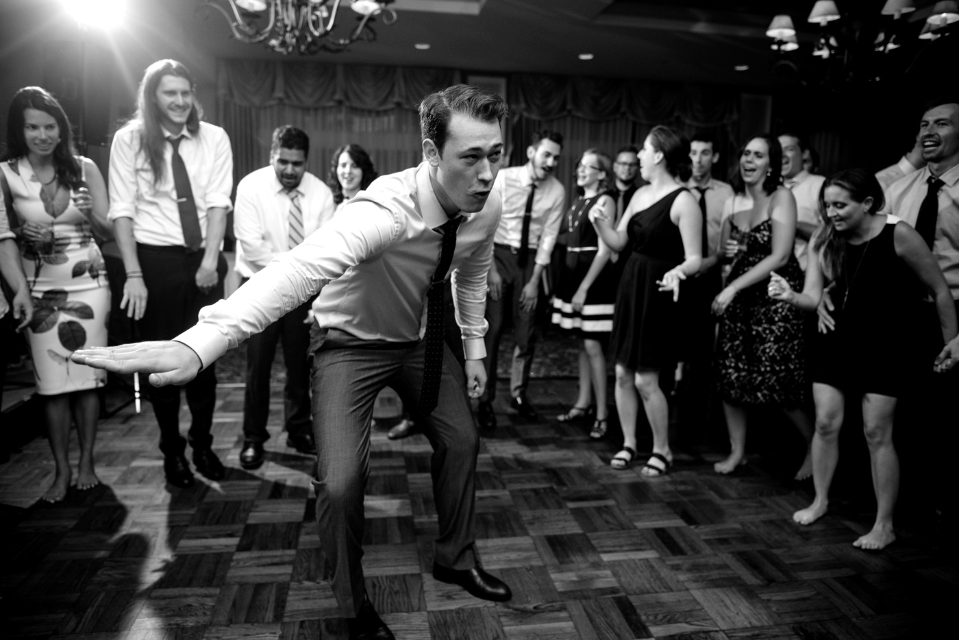st clair country club wedding reception dancing hotline bling