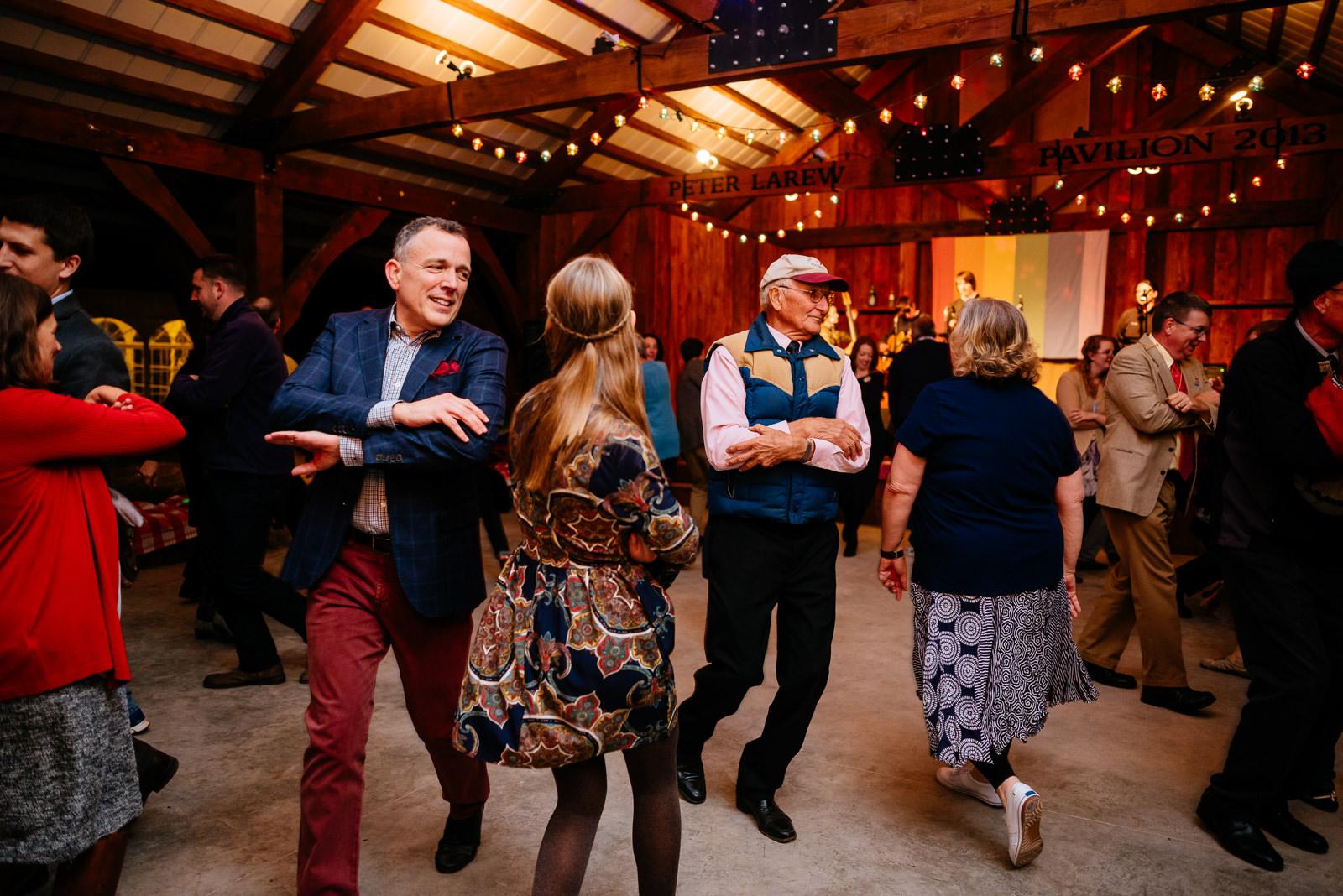 reception square dance wv farm wedding