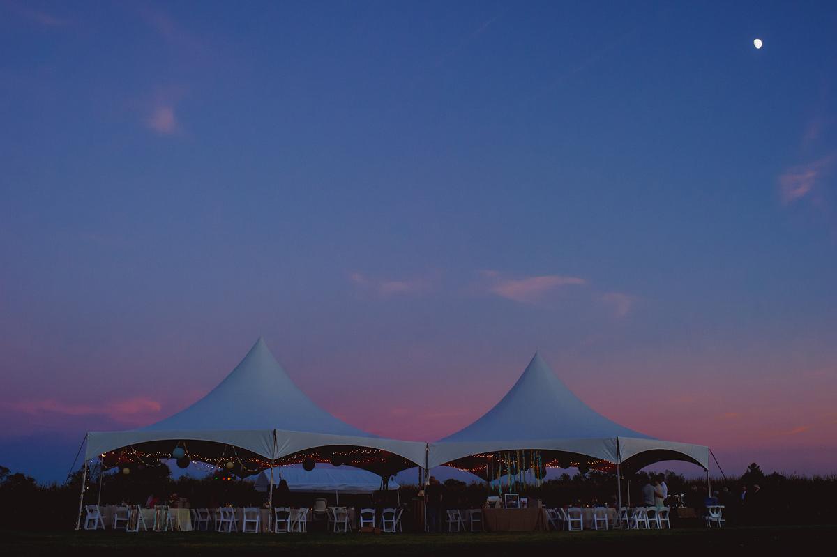 september wedding in ohio sunset