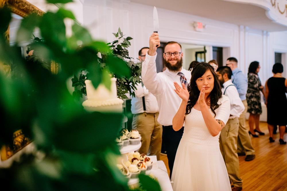 hilarious moment at a wedding