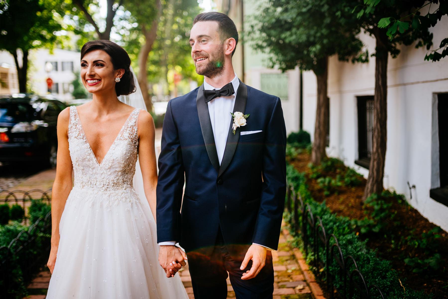 bride and groom portraits georgetown
