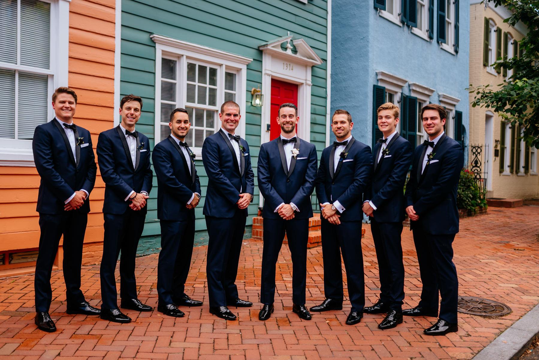 groomsmen in georgetown