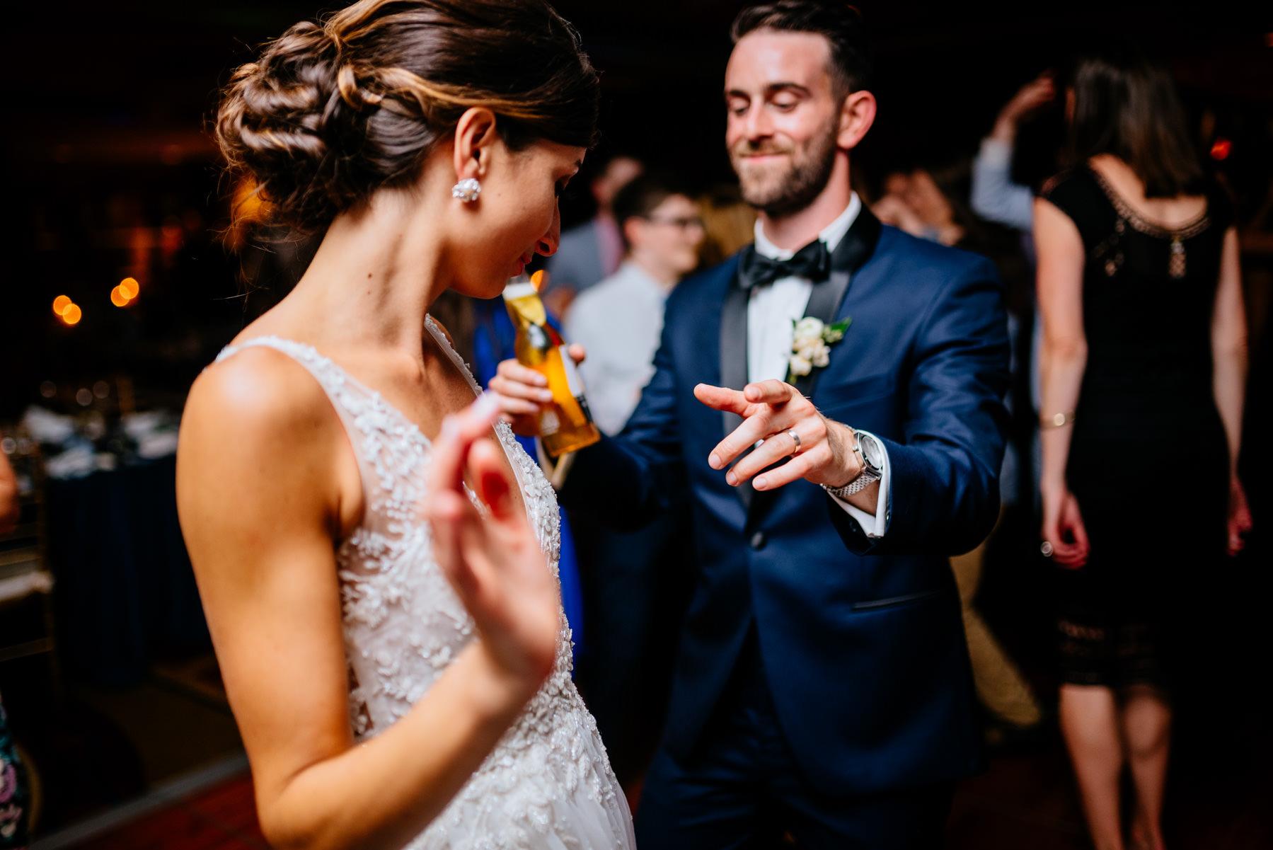 bride and groom dancing key bridge marriott wedding