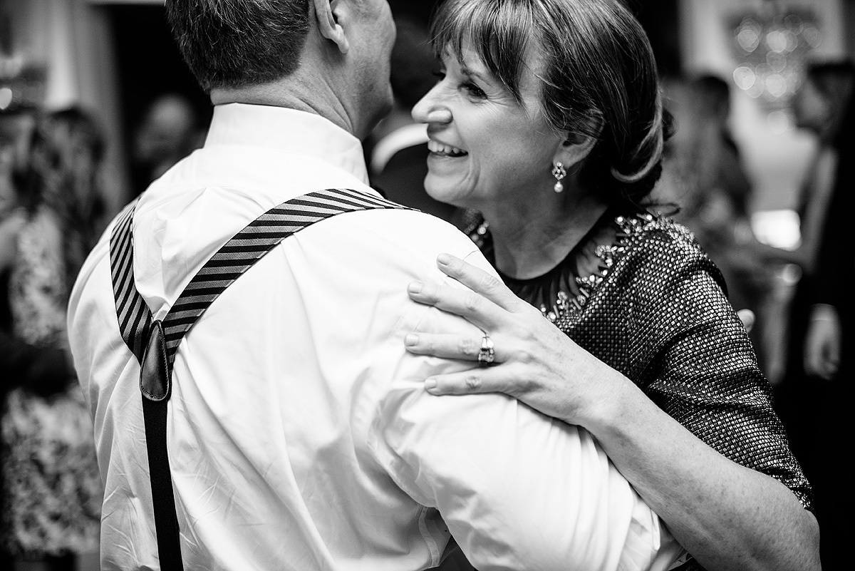 parents of the bride dancing at greenbrier wedding reception