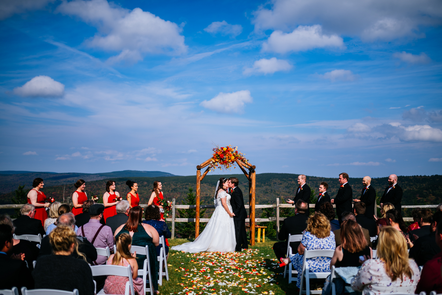 first kiss snowshoe mountain resort wedding
